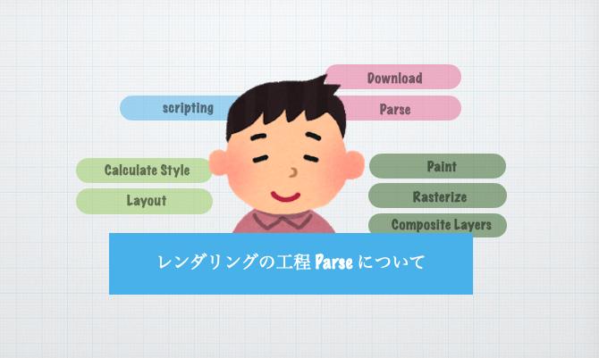 レンダリングの工程 Parse / Scripting