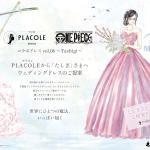 大人気アニメ「ONE PIECE(ワンピース)」コラボ企画第8弾、プラコレから「ONE PIECE」キャラへオリジナルウェディングドレス提案!3⽉は海軍の女剣士「たしぎ」へのドレス姿を公開